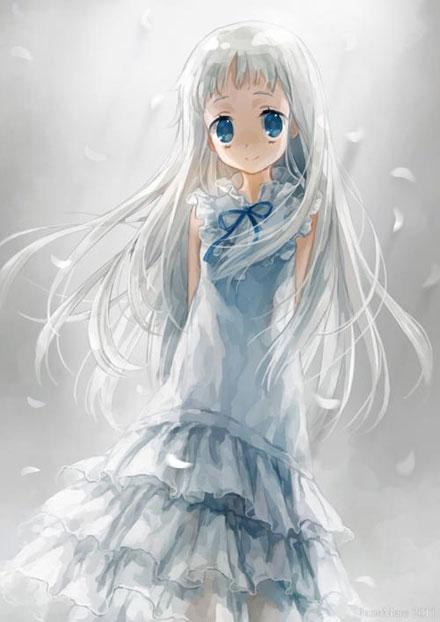 二次元白色连衣裙美少女图赏(1)