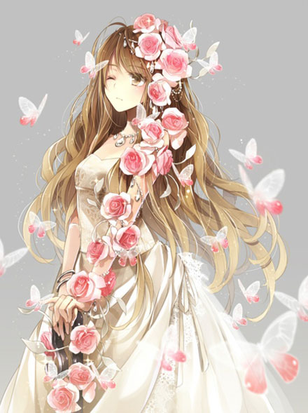 二次元婚纱美少女图集(1)