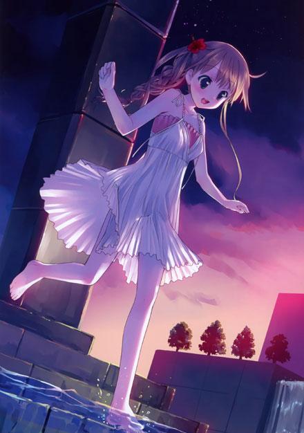 二次元白色连衣裙美少女图赏(3)