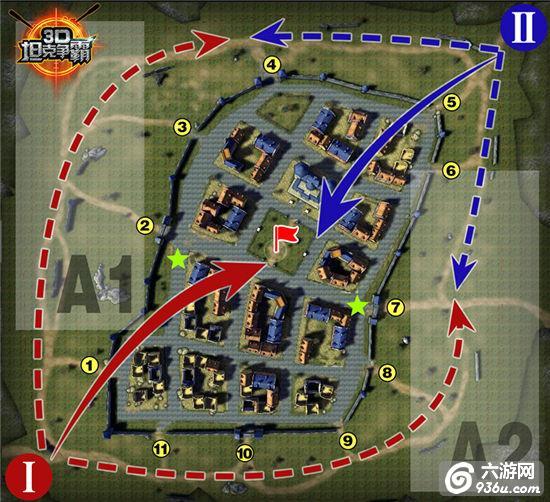 《3D坦克争霸》手游 海德堡小镇应该用什么战术解析